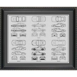 Mazda Blueprint Collection Art Print