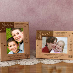 Personalized What It Means To Be an Aunt Wooden Picture Frame