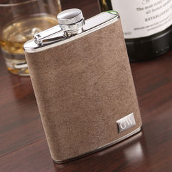 Personalized Suede Flask