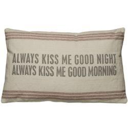 Always Kiss Me Goodnight Vintage Sack Pillow