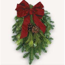 Traditional Fresh Christmas Swag
