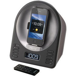 iPhone and iPod Dock Alarm Clock and Radio Speaker System