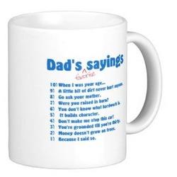 Dad's Favorite Sayings Ceramic Mug
