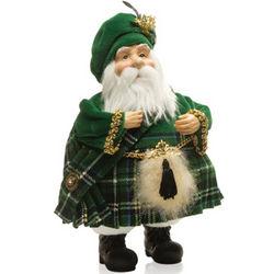 Irish Kilted Santa Figurine