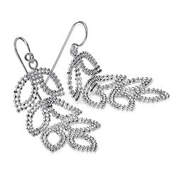 Leaf Chandelier Earrings in Sterling Silver
