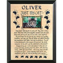 Personalized Just My Cat Plaque