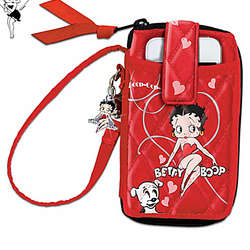 Quilted Betty Boop Wristlet