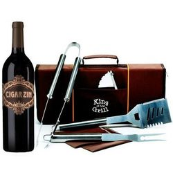Cigar Zin Wine and Grill Tools Gift Set