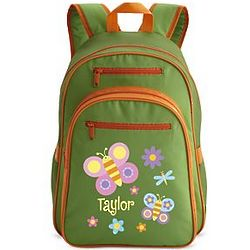 Green Personalized Butterfly Backpack