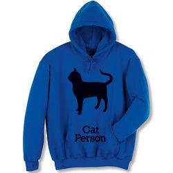 Cat Person Hooded Sweatshirt