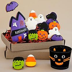 Halloween Cookie Assortment with Candy Carrier