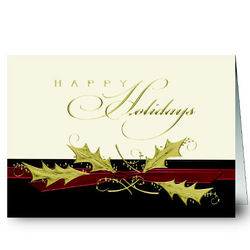 Personalized Happy Holidays Greeting Cards