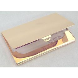 Personalized Gold Plated Business Card Case