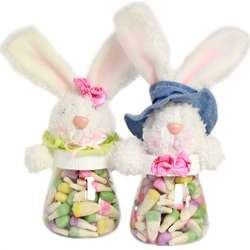Easter Bunny Candy Corn Filled Bunny Jar