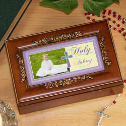 Amazing Grace Personalized First Holy Communion Music Box