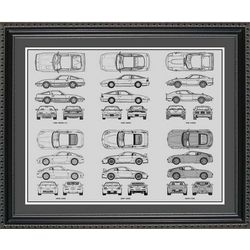 Nissan Blueprint Collection Art Print