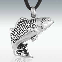 Fresh Water Fish Stainless Steel Cremation Necklace