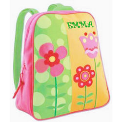 Personalized Girl's Flower Backpack