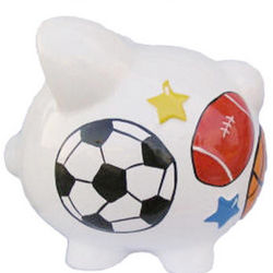Large Personalized Children's Ceramic Piggy Bank