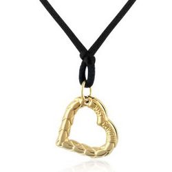 Snake Small Heart Pendant with Lace