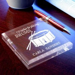 Personalized Drums Keepsake & Paperweight