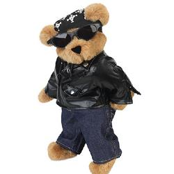 "15"" Biker Teddy Bear"