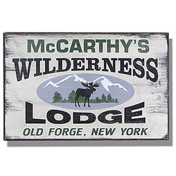 Personalized Vintage Wilderness Lodge Sign
