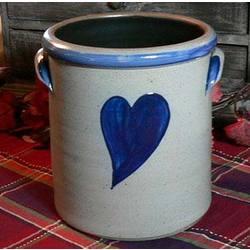 Heart Stoneware Crock