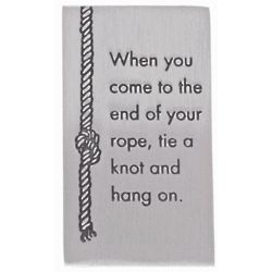 When You Get to the End of Your Rope Hang On FDR Quote Paerweight