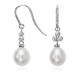 Freshwater Cultured Pearl And Sparkle Bead Drop Earrings