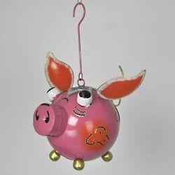 Metal Space Pig Lantern