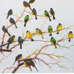 Birds on Branches Canvas Art