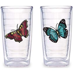 Butterfly Design Insulated Tumblers