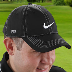 Embroidered Dri-FIT Black Golf Baseball Cap