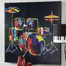 Percussion Canvas Art Print