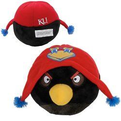 Kansas Jayhawks Black Angry Bird Plush