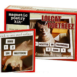 LOLcat Poetreez Magnetic Poetry Kit
