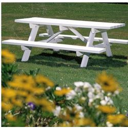 EnviroWood Picnic Table with Benches