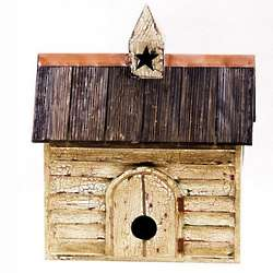Vintage Star Rustic Barn Bird House