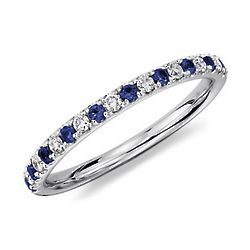 Pave Sapphire and Diamond Ring