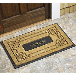Personalized Knot Coir Mat