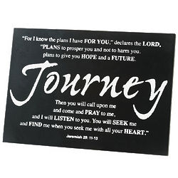 Bible Verse Tabletop Graduation Plaque