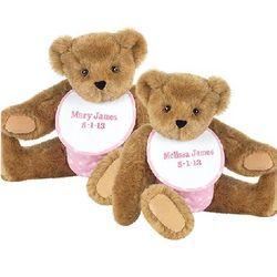 Twin Girl Teddy Bears