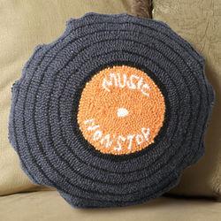 LP Record Retro Wool Pillow