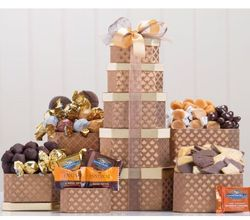 Chocolate, Caramels and More Gift Tower