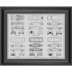 Rolls Royce Blueprint Collection Art Print