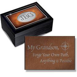 My Grandson Personalized Heirloom Keepsake Box