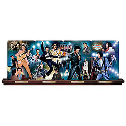 Elvis Presley Porcelain Panorama Plate Collection with Rail