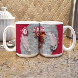 2 University of Alabama Mascot Mugs