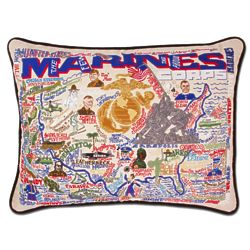 US Marine Corp Embroidered Throw Pillow